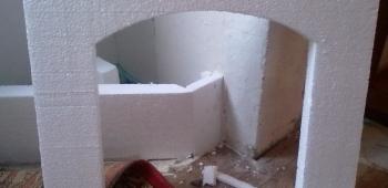 Как сделать камин из пенопласта