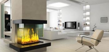 Камин: интерьер и дизайн комнаты