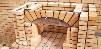 Схема прямого кирпичного камина