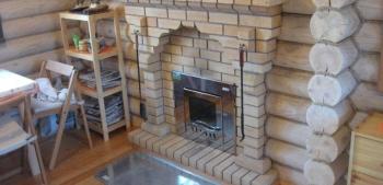 Камин-печь для бани